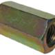 Coupling Nuts Grade 4.6 Yellow Zinc - Metric